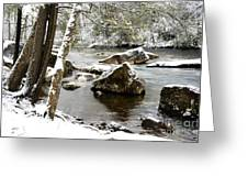 St Patricks Day Cranberry River Greeting Card