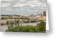 St Paul Skyline 2005 Greeting Card by Mike Evangelist