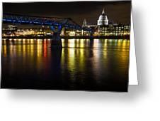 St Pauls And Millenium Bridge Greeting Card
