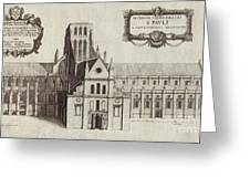 St Paul's Cathedral, 17th Century Artwork Greeting Card