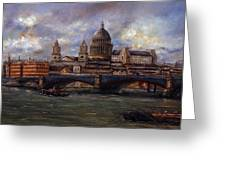 St. Paul's  Cathedral  - London Greeting Card