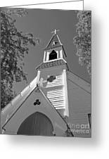 St. Paul's Church Port Townsend In B W Greeting Card