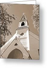 St. Paul's Church Port Townsend In Sepia Greeting Card