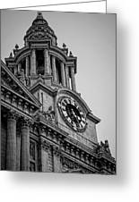 St Pauls Clock Tower Greeting Card