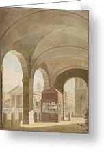 St. Pauls, Covent Garden C.1765-75 Graphite And Wc On Paper Greeting Card