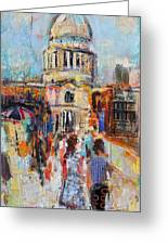 St Paul's From The Millennium Bridge Greeting Card