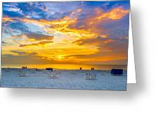 St. Pete Beach Sunset Greeting Card