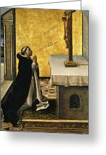 St. Peter Martyr In Prayer Greeting Card