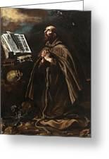 St Peter Of Alcantara Greeting Card