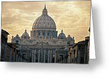 St Peter's Afternoon Glow Greeting Card
