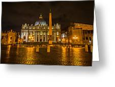 St Peters Bascilica Greeting Card