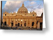 St. Peters Basilica Greeting Card by Adam Romanowicz