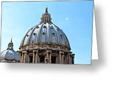 St Peters Basilica Dome Vatican City Italy Greeting Card