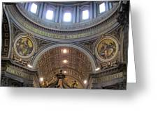 St. Peters Basilica Vatican City Rome Italy Greeting Card