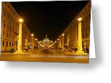 St. Peter's Basilica. Via Della Conziliazione. Rome Greeting Card by Bernard Jaubert