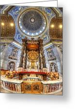 St Peter's Basilica Greeting Card