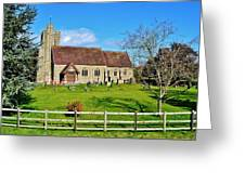 St Peters Church In Minsterworth Greeting Card by Paula J James