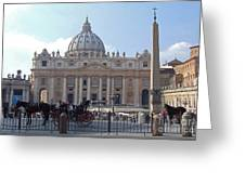 St. Peters Square - Vatican City Greeting Card