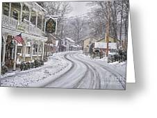 St Peters Village Snow 3 Greeting Card