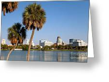 St Petersburg Florida From Mirror Lake Park Greeting Card