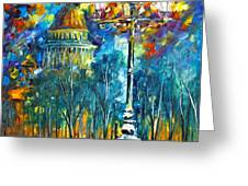St. Petersburg New Greeting Card by Leonid Afremov