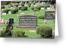 St. Red Dye Cemetery Greeting Card