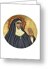 St. Rita Of Cascia Patroness Of The Impossible 206 Greeting Card