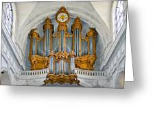 St Roch Organ In Paris Greeting Card