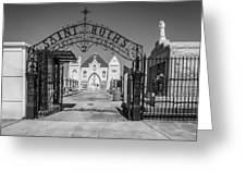 St Roch's Cemetery Bw Greeting Card