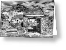 St Sannans Church Bedwellty 4 Mono Greeting Card