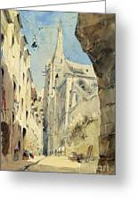 St. Severin Paris Greeting Card by James Holland