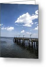 St. Simon's Island Georgia Dock Greeting Card