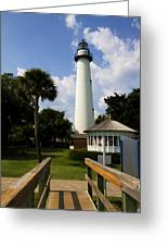 St. Simon's Island Georgia Lighthouse Painted Greeting Card