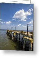 St. Simon's Island Georgia Pier Greeting Card