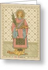 St Stephen Greeting Card by English School