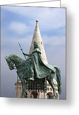 St Stephen's Statue In Budapest Greeting Card