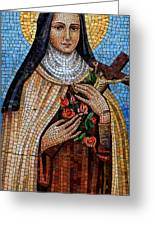 St. Theresa Mosaic Greeting Card