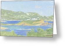 St. Thomas From Water Island Greeting Card