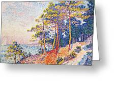 St Tropez The Custom's Path Greeting Card by Paul Signac