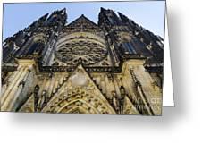 St Vitus Church In Hradcany Prague Greeting Card by Jelena Jovanovic