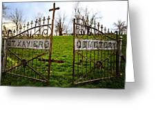 St. Xaviers Cemetery Greeting Card