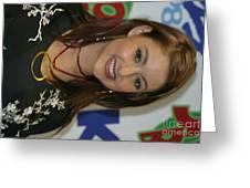 Singer Stacie Orrico Greeting Card