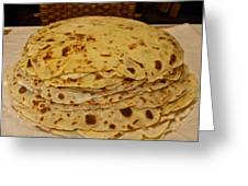 Stack Of Lefse Rounds Greeting Card