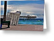 Stacked Beach Chairs Greeting Card