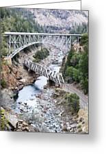 Stacked Bridges Greeting Card