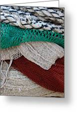 Stacked Nets And Ropes Greeting Card
