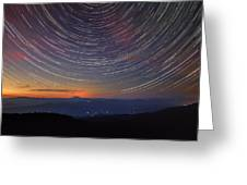 Stacking The Stars At Larch Mountain Greeting Card