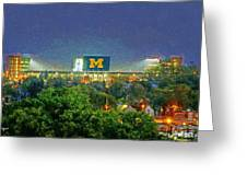 Stadium At Night Greeting Card
