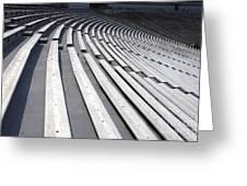 Stadium Bleachers Greeting Card