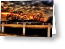 Stadium Sunset Greeting Card